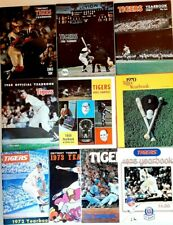LOT of 10 Detroit Tigers Yearbook 1965-1975(no '71) World Champions MINT COND.