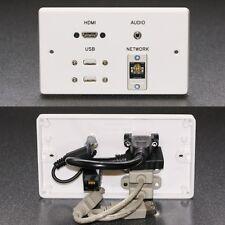AUDIO Visual Muro AV/Faccia Piastra HDMI/USB/JACK AUDIO/Prese di rete Cat6