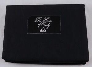 "Double Size Flat Sheet Black Egyptian Cotton 400 TC 90"" x 100"""
