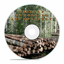 LOGGING, REDWOOD, OLD TIME LUMBER MILLS FILMS, WOOD FOR WAR DVD J34