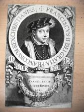 FRANCIA FRANCESCO II RE .Acquaforte originale XVIII secolo