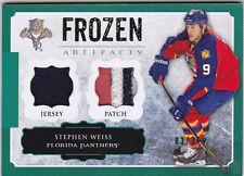 13-14 Frozen Artifacts Stephen Weiss /36 Jersey PATCH EMERALD GREEN 3 Color