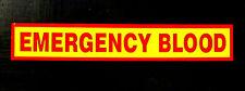 Signo de sangre de emergencia señalización magnético REFLECTANTE