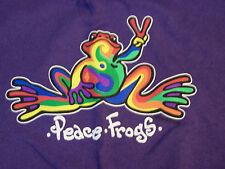 Peace Frogs Purple Retro Adult Xxlarge T-Shirt
