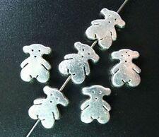 40pcs Tibetan Silver Cute Bear Spacer Beads R1448