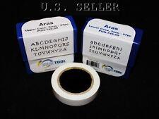 Aras Upper & Lower Case Letter Punch Set 2mm 54pcs With Tape
