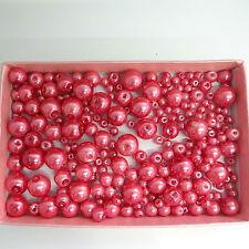 200 ASSORTITI TAGLIE 4mm 6mm 8mm 10mm vetro perle Blush