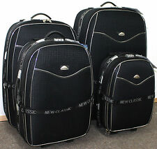 Set of 4 Suitcases Lightweight Wheel Suitcase Trolley Case Travel Luggage Grey