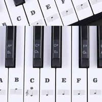 Reusable Color Piano Key Note Keyboard Stickers - Learn to Play 88/61/54/49 Key