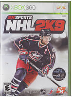 NHL 2K9  (Xbox 360, 2008)  INCLUDES INSTRUCTIONS