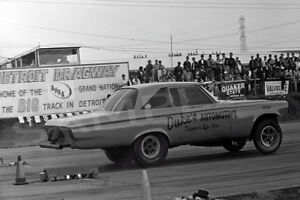 """4 x 6""""  Of The Duke's Automotive Plymouth Racing At Detroit Dragway®"""