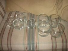 Beverage Glasses Barware Lowball Brandy Clear Glass Set of 8 w 3 Different Sizes