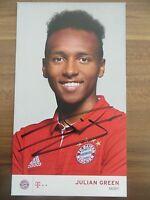 Handsignierte AK Autogrammkarte *JULIAN GREEN* FC Bayern München 16/17 2016/2017