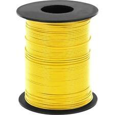 100 Meter Litze Gelb 0,14mm² Kupferschaltlitze LIY Kabel auf Spule