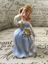 Vtg Lefton Miss April Angel Birthday Girl Figural Beauty Queen Porcelain Japan