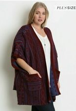 NWT Umgee+ PLUS CURVE Sweater Kimono XL/1XL & 1XL/2XL available Perfect for Fall