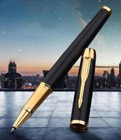 Luxurious Metal Parker IM Matte Black Golden Clip 0.5mm Fine Nib Rollerball Pen