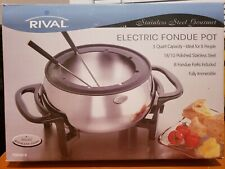 Rival Stainless Steel Gourmet Electric Fondue Pot FD350 S Excellent In Box