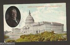 President William Taft & U.S. Capitol Postcard