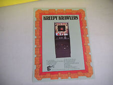 KREEPER KRAWLERS    EXIDY     ARCADE GAME  FLYER