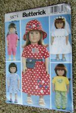 "2003 Butterick Pattern #3875 18"" DOLL CLOTHES Uncut"