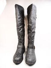 Journee Collection Spokane Zipper Riding Boots, Women's Grey Size 8