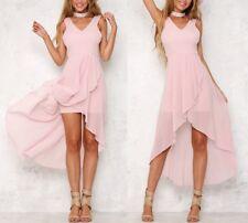 Vestito Lungo Mini Maxi Asimmetrico Donna Woman Mini Maxi Spring Dress 110358 P