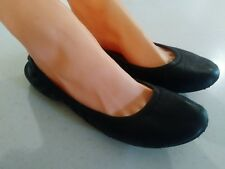 LUCKY BRAND Emmie Women's Black Leather Ballet Flats Shoes Size 9 / 39