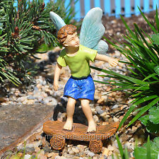 Miniature Fairy Garden Skateboard Boy