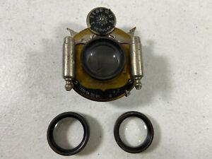Antique Wollensak Optical Co. 4x5 Rapid Symmetrical Lens w/ 3 Lenses