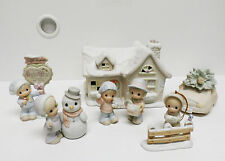 Precious Moments SUGAR TOWN SAM'S HOUSE  7 pc set - Butterfly Mark 1992