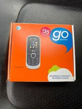New Alcatel 510A AT&T Go Phone Black and Silver
