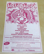 SONIC YOUTH Hole BECK Cypress Hill Lollapalooza Original 1995 Concert Poster
