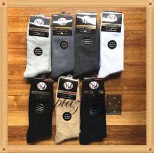 6 Pairs Top Quality Pure Cotton Plain School Socks Dress/Work Socks