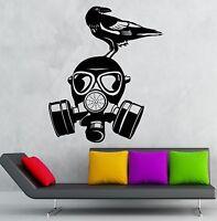 Gas Mask Wall Stickers War Military Bird Cool Decor Vinyl Decal (ig2397)