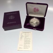 1986-S Proof American Silver Eagle w/ Box and COA - Free Shipping USA