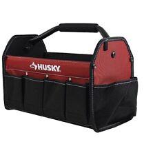 """Husky 15"""" Open Tool Tote  600 Denier Heavy Duty Waterproof Material 398821"""