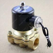 "24v DC 3/4"" Electric Solenoid Valve Water Gas Diesel"