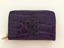 NEU NP150€ TORY BURCH ZIP SMALL COIN PORTEMONNAIE WALLET LILA PURPLE CROC KROKO