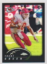 2002 Topps Chrome Refractor #65 Trent Green 180/599 Kansas City Chiefs