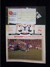 Orig.PRG + Ticket   England  1.Division 1985/86  MANCHESTER UNITED - ASTON VILLA