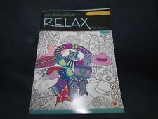 Landoll Adult Coloring Book RELAX vol 2 w/ Free Music Download ~ Coffee Animals+