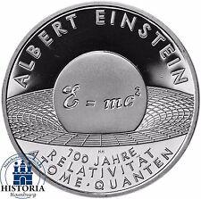 Deutschland 10 Euro Albert Einstein Silber Gedenkmünze 2005 Spiegelglanz