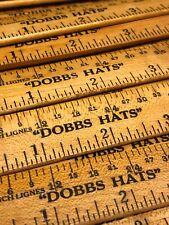 "(1) Vintage NOS 6"" Advertising Ruler DOBBS HATS New York w Hat Measurements MINT"