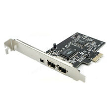 PCIE PCI-E FIREWIRE IEEE 1394 3 PORT FIRE WIRE CONTROLLER CARD FOR DESKTOP PC