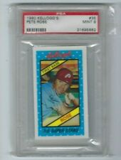 1980 Kellogg's 3-D Super Star  #35 Pete Rose Phillies MVP Hit King  -MINT PSA 9-