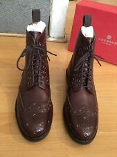 Grenson Fred Brown Leather  Commando Sole Brogue Boot Uk 9., Eu 43 RRP £310