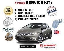 Pour HONDA Civic Type S 2.2 CDTi 2007 - > Huile Air Carburant Pollen Filtres Service Kit