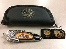 FRANKLIN MINT KNIFE HARLEY DAVIDSON ROAD KING FLYING EAGLE  NEW OLD STOCK LOOSE
