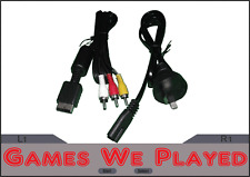Playstation 2 PS2 AV Cables and Power Cord Lead *Brand New Aftermarket